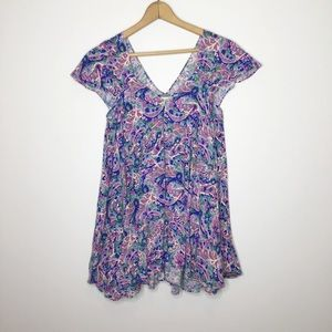 Matilda Jane tunic blouse Pretty pink and purple